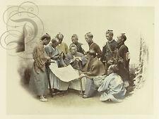 REPRO DECO PHOTO ANCIENNE JAPAN JAPON 1868 GROUPE SABRE  PAPIER 310 OU 190 GRS