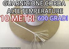 10 metri CORDA TERMICA ALTE TEMPERATURE IMBOTTITA STUFA diametri 1, 1.5 e 2 mm