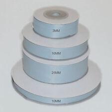 Bébé Bleu Double Face Ruban Satin 3 mm 10 mm 16 mm 25 mm 38 mm 50 mm largeur