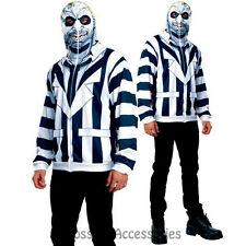 CL249 Beetlejuice Mens Hoodie Costume Halloween Party Adult Outfit Ghost Horror