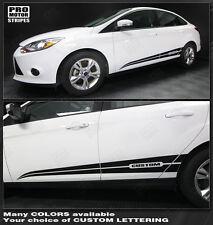 Ford Focus 2011-2014 Rocker Panel Side Accent Stripes Decals (Choose Color)