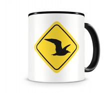 Möwen Warnschild Tasse Kaffeetasse Teetasse Kaffeepott Kaffeebecher Becher