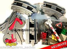 LEGO DUPLO Weichen gerade gebogene Schienen Bahnübergang Zug Bahn Rails Train