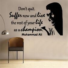 Muhammad Ali Champion Quote 1 wall art sticker CFQ13 Muhammed