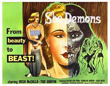 She Demons - 1958 - Movie Poster