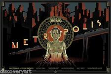 Metropolis 1927 Movie Poster Canvas Multi-Size Wall Art Film Print Sci-Fi