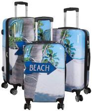 Polycarbonat Hartschale Reise Koffer Trolley Handgepäck Beach Set und Einzeln