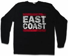 East Coast Uomo Manica lunga T-SHIRT RUN Fun USA United States New City West Side