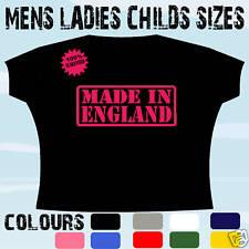 MADE IN ENGLAND LONDON UK T-Shirt Tutte le Taglie e Colori
