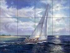 Ceramic Tile Mural Backsplash Mirkovich Sailing Sailboat Nautical Art NMA072