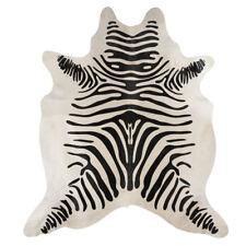 SUPER size Vera pelle COW Hide-con finitura di stampa Zebra-Taglia 6 FT (ca. 1.83 m) x 3 FT (ca. 0.91 m)