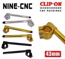 43mm Clip-On Handlebars For Honda 1999 2000 2001 2002-2006 CBR600 F4 F4i