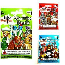 BrickWarriors Brick Warrior Random Blind Bag LOT of 3 Packs