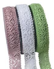 1m Spitze Borte Schleifenband Vintage Spitzenband  bordeaux creme grün weiß