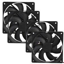 4pcs 120mm 12V 4Pin DC Brushless PC Computer Case Fan Cooling Fan 1800PRM Black