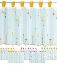 Bistrogardine Pia 155x45 Cafehaus Gardine weiß transparent Voile Fenstergardine