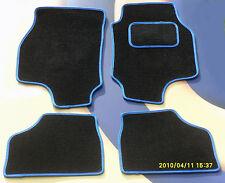 Fiat Grande Punto 06 en Tapetes Coche De Lujo Alfombra Negra con borde azul B