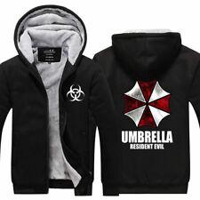 Resident Evil Umbrella Corporation Hoodie Sweatshirt Zipper Fleece Warm Coat Top