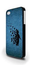 Banksy SOLDATO BIRD COVER CUSTODIA PER IPHONE 4/4s 5/5s 5c 6 6 Plus