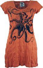 Sure Long Shirt, Minikleid Krake - rostorange