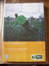 11/05/2002 FA Vase Final: Tiptree United v Whitley Bay [At Aston Villa] . No obv