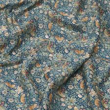 Liberty ~ Strawberry Thief Green Fabric / quilt dressmaking floral bird vintage