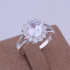 beautiful Fashion silver Pretty Crystal women nice wedding cute Ring jewelry new