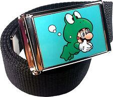 Mario Frog Suit Belt Buckle Bottle Opener Adjustable Web Belt