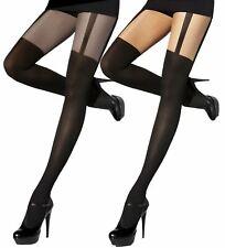 Mock Suspender Tights Stockings 40 / 20 Den size S - XXL Adrian Monique New