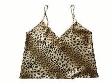 Victoria's Secret Animal Leopard Silk Sleepwear Camisole Top XS M