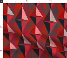 Retro Modern Grungh Goth Mod Red Damask Fabric Printed by Spoonflower BTY