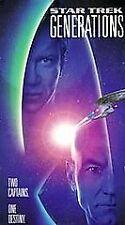 Star Trek: Generations (VHS, 1995) Patrick Stewart