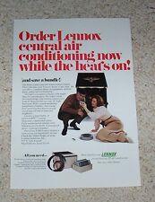 1971 print ad - Lennox Air Conditioning Heating & Bolens Husky lawn mower dog AD