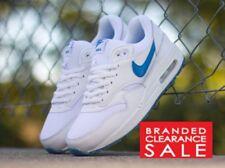 Bnib New Boys Unisex Nike Air Max 1 Glow Premium White leather size 3 4 5uk