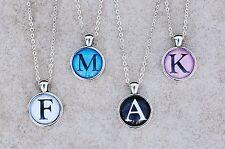 LETTER NECKLACE, Initial Alphabet Charm Pendant A-Z Collar Letras Boy Girl