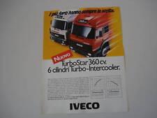 advertising Pubblicità 1987 IVECO TURBOSTAR