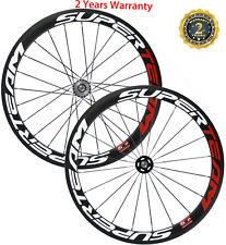 Fixed Gear Carbon Wheels 50mm Clincher Track Wheelset 15/16/17 Teeth 700C Bike