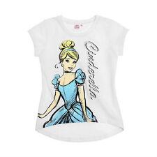 DISNEY t-shirt CENDRILLON 2 4 ou 6 ans blanc manches courtes bas arrondi NEUF