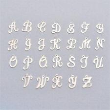 Sterling Silver Script Letter Charm, 11.6 - 13 mm (S903)