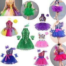 Girls Ballet Dance Dress Jazz Dancewear Leotard Glitter TUTU Modern Costume