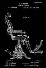 1879 - Dentist's Chair - E. T. Starr - Patent Art Poster