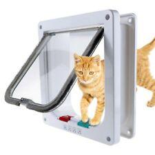 4 Way Medium Small Pet Cat Puppy Dog Supplies Lock Lockable Safe Flap Door Gate