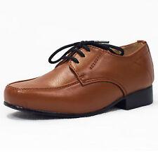 Boys Brown formal Zapatos cordones Infantil Junior Smart Boda Alta Calidad vivaki W