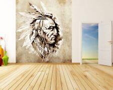 Fototapete Indianer II - Tattoo Art