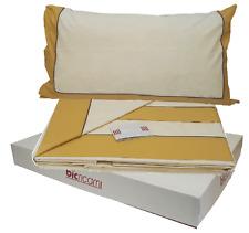 BIC RICAMI. Completo lenzuola, letto. 420 - Cotone 100%. Matrimoniale, 2 piazze.