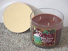 BATH & BODY WORKS 3 WICK 14.5 OZ CANDLE CHRISTMAS ~ HOT COCOA & CREAM ~