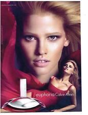 PUBLICITE ADVERTISING   2012   CALVIN KLEIN    parfum EUPHORIA