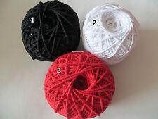 9 m Baumwolle  Kordel geflochte 2mm