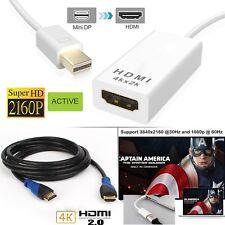 2160P Thunderbolt MDP to HDMI Adapter Eyefinity Technology & 4K w/ 1M 2M 3M HDMI