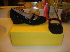 Softspots Reus Black Suede Patent Comfort Shoe $89.00